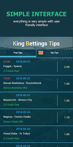 King Betting Tips Football App NEW Screenshots 1
