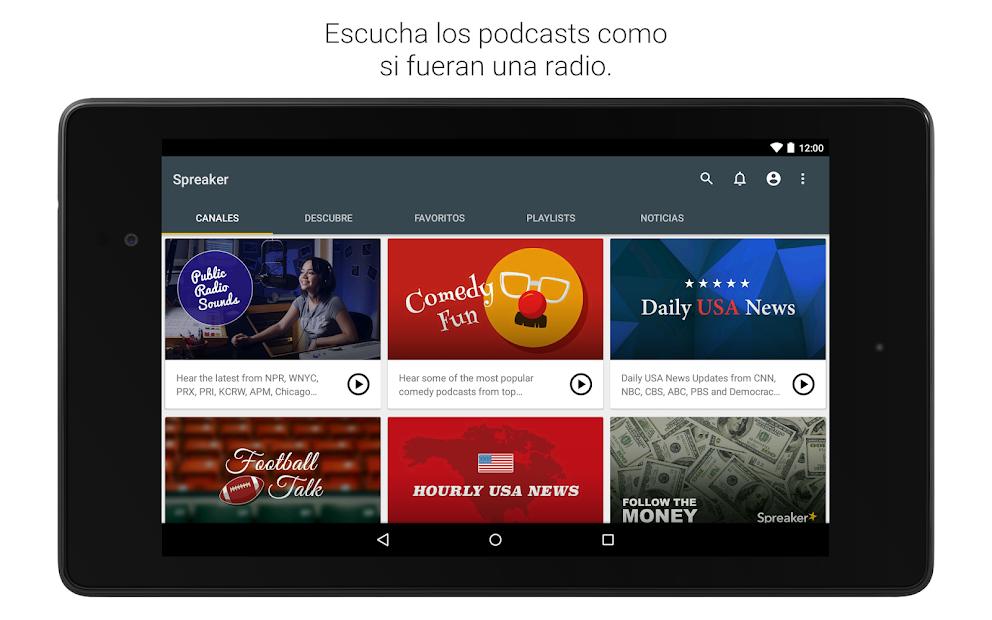 Screenshot 12 de Spreaker Podcast Player - Escucha podcasts gratis para android