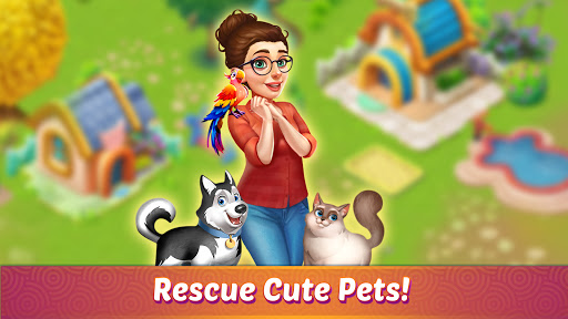 Solitaire Pet Haven - Relaxing Tripeaks Game apkpoly screenshots 4