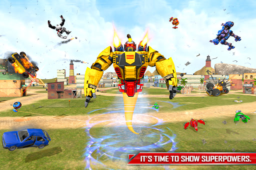 Flying Ghost Robot Car Game apkpoly screenshots 2