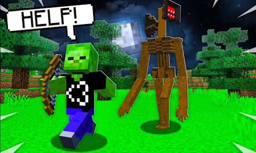 Siren Head Mod for Minecraft PE Hack & Cheats Online 3