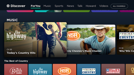 Foto do SiriusXM TV: Music, Video, News for Android TV