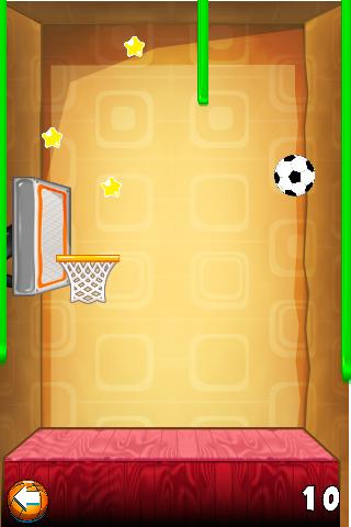 wall free throw soccer game screenshot 2