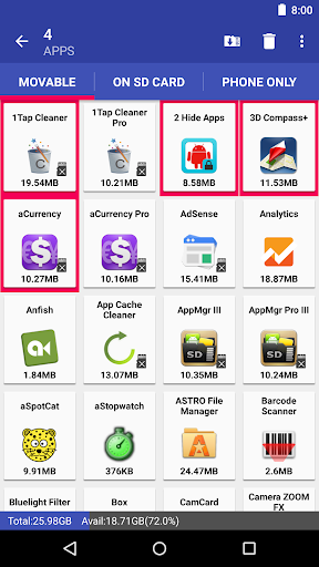 AppMgr Pro III (App 2 SD, Hide and Freeze apps) android2mod screenshots 7