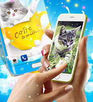 Cute kitty live wallpaper