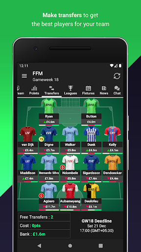 (FPL) Fantasy Football Manager for Premier League android2mod screenshots 2