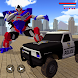 US Police Monster Truck Robot transform