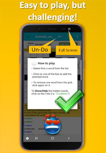 Fill it ins word puzzles - free crosswords screenshots 4
