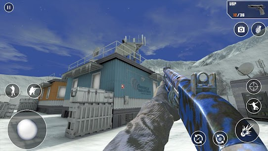 FPS Cover Strike 2021 Mod Apk (God Mode/Dumb Enemy) 3