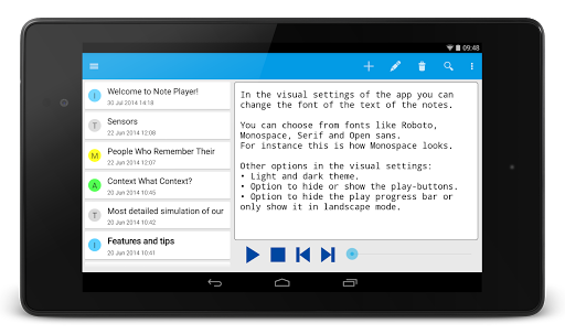 Note Text Player (Read aloud) For PC Windows (7, 8, 10, 10X) & Mac Computer Image Number- 13