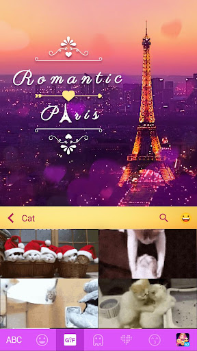 romanticpairs keyboard theme screenshot 3
