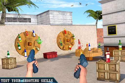 Real Bottle Shooting Free Games: 3D Shooting Games android2mod screenshots 2