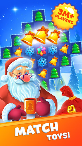 Christmas Sweeper 3 - Santa Claus Match-3 Game modiapk screenshots 1