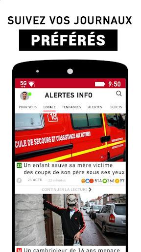 Alertes info: Actualitu00e9 locale et alerte d'urgence 10.7.0 Screenshots 3
