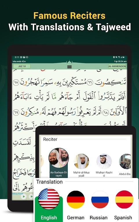 Quran Majeed – القران الكريم: Prayer Times & Athan  poster 18