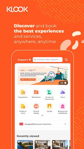 Klook: Travel & Leisure Deals android2mod screenshots 1