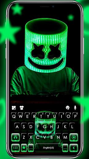 neon dj cool man keyboard theme screenshot 1