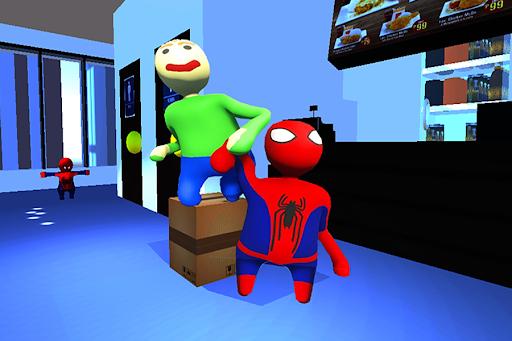 Spider vs Baldi Fall Neighbor Flat  Screenshots 3