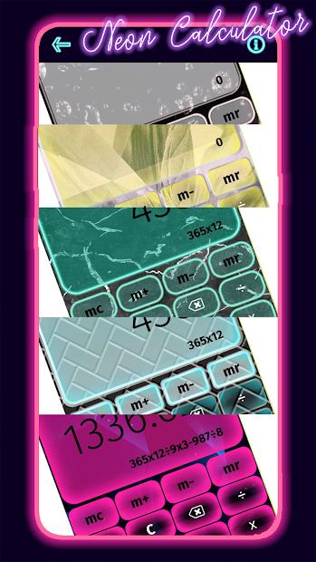 Captura de Pantalla 2 de Calculadora De Neón para android