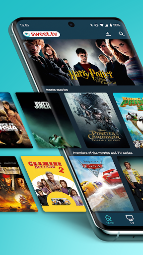 SWEET.TV. 260+ TV channels and TOP movies  screenshots 1