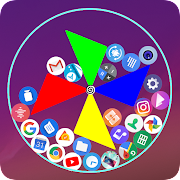 Gravity launcher 3D Rolling icons emojis photos