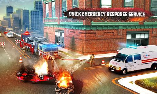 🚒 Rescue Fire Truck Simulator: 911 City Rescue screenshots 2