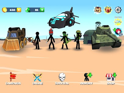 Age of Stickman Battle of Empires Mod Apk 1.0 (Inexhaustible Currency) 8
