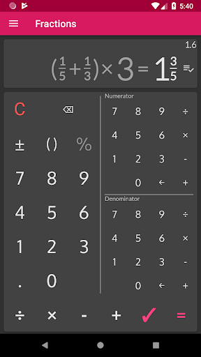 Fractions - calculate and compare 2.18 Screenshots 7