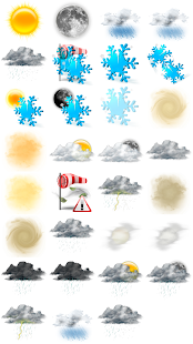 Weather M8. Icons. Misty