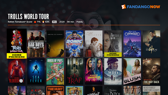 FandangoNOW for Android TV Capture d'écran