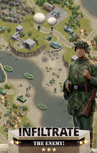 1944 Burning Bridges - a WW2 Strategy War Game  screenshots 3