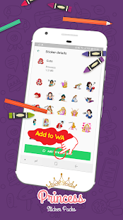 Magic King Princess Stickers for WhatsApp Screenshot