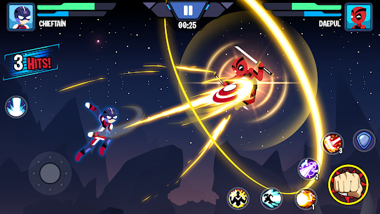 Stickman Heroes Fight – Super Stick Warriors Mod Apk (No Skills/Ultimate) 3
