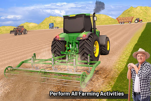Modern Farming Simulation: Tractor & Drone Farming android2mod screenshots 5