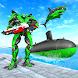 潜水艦 ロボット 変換: 鮫 攻撃