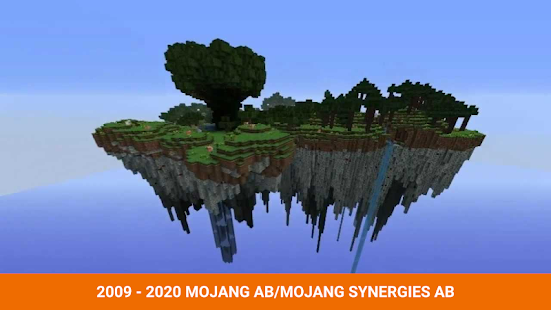 One block survival Minecraft maps. Map for MCPE