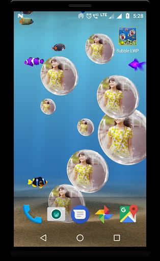 Bubble photo live wallpaper with aquarium 1.5 screenshots 3