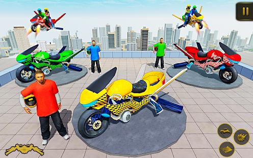 Flying Hover Bike Taxi Driver City Passenger Sim screenshots 12