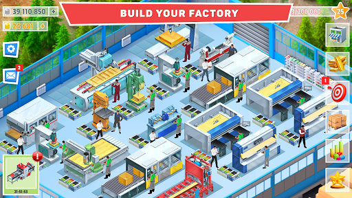 Timber Tycoon - Factory Management Strategy apktreat screenshots 1