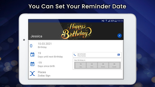 Birthday & Anniversary Events Reminder 1.3 Screenshots 7