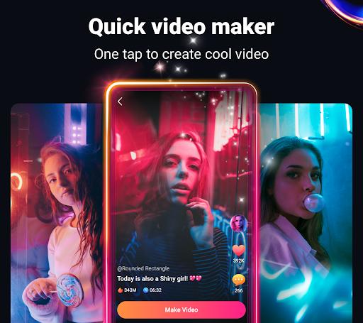 Blaze - Quick Music Video Maker, Beauty Effects  screenshots 1