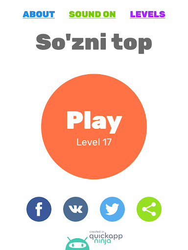 So'zni top. O'zbekcha o'yin 1.29.9z screenshots 7