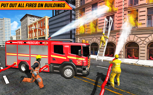 American FireFighter Truck : City Emergency Rescue APK MOD – Monnaie Illimitées (Astuce) screenshots hack proof 1