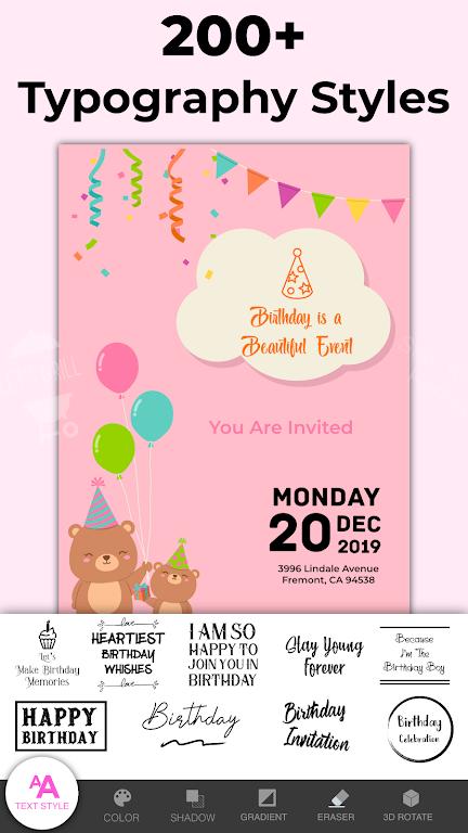 Invitation Maker Free - Birthday & Wedding Card  poster 5