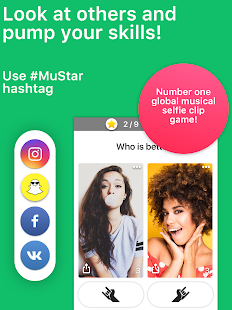 MuStar — Lip Sync Short Videos Musically Battle Screenshot