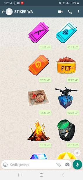 Captura de Pantalla 18 de Sticker WA Free Fire FF Emote 2021 WAStickerApps para android