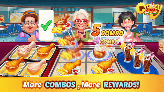 Crazy Chef: Fast Restaurant Cooking Games 3