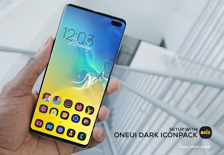 ONE UI DARK Icon Pack : S10 v3.1 [Patched] 1