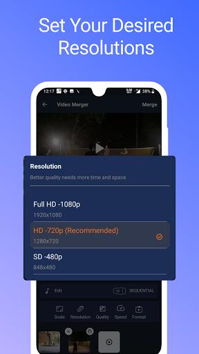 Video Merger, Joiner (MP4, 3GP, MKV,MOV, AVI) modavailable screenshots 2