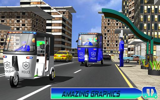 Police Tuk Tuk Auto Rickshaw Driving Game 2020 modavailable screenshots 8